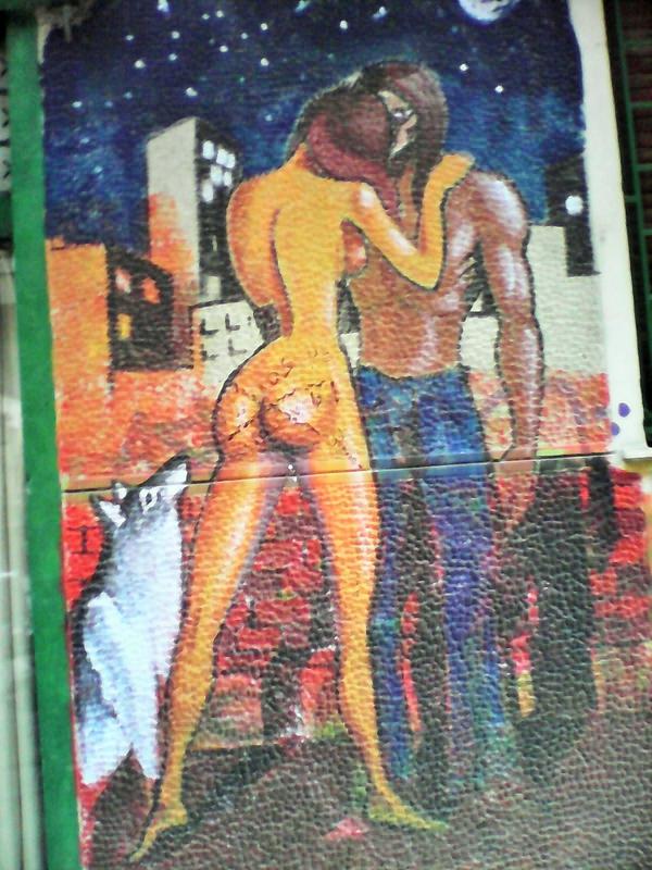 rue Mavro Michalis atelier du peintre fresque exterieur (2)
