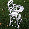 Ancienne chaise haute pour poupée VEndue, jouets en stock http://www.alittlemarket.com/boutique/le_torchon_en_cavale-1127475.html