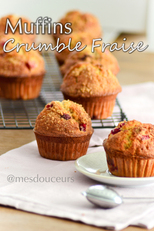 muffins fraise crumble