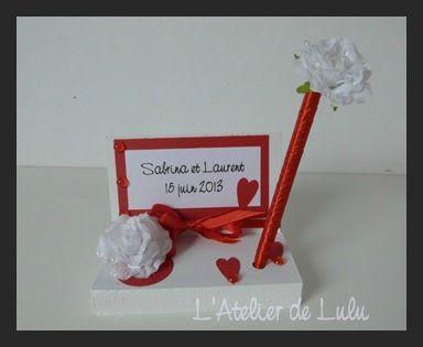 porte stylo et stylo mariage