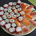 Makis, sushis et nigiris tupperware