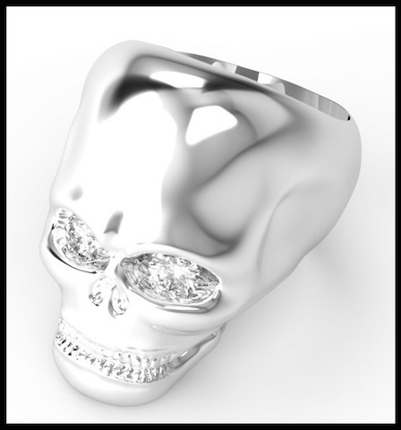 divinescence collection skull bague 7