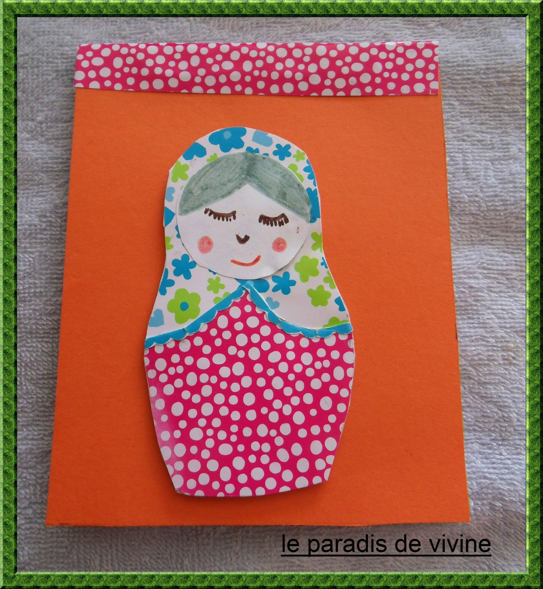 carnet matriochka orange