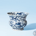 A blue and white porcelain refuse-vessel. jiajing period, ming dynasty