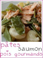 pâtes saumon - pois gourmands - index