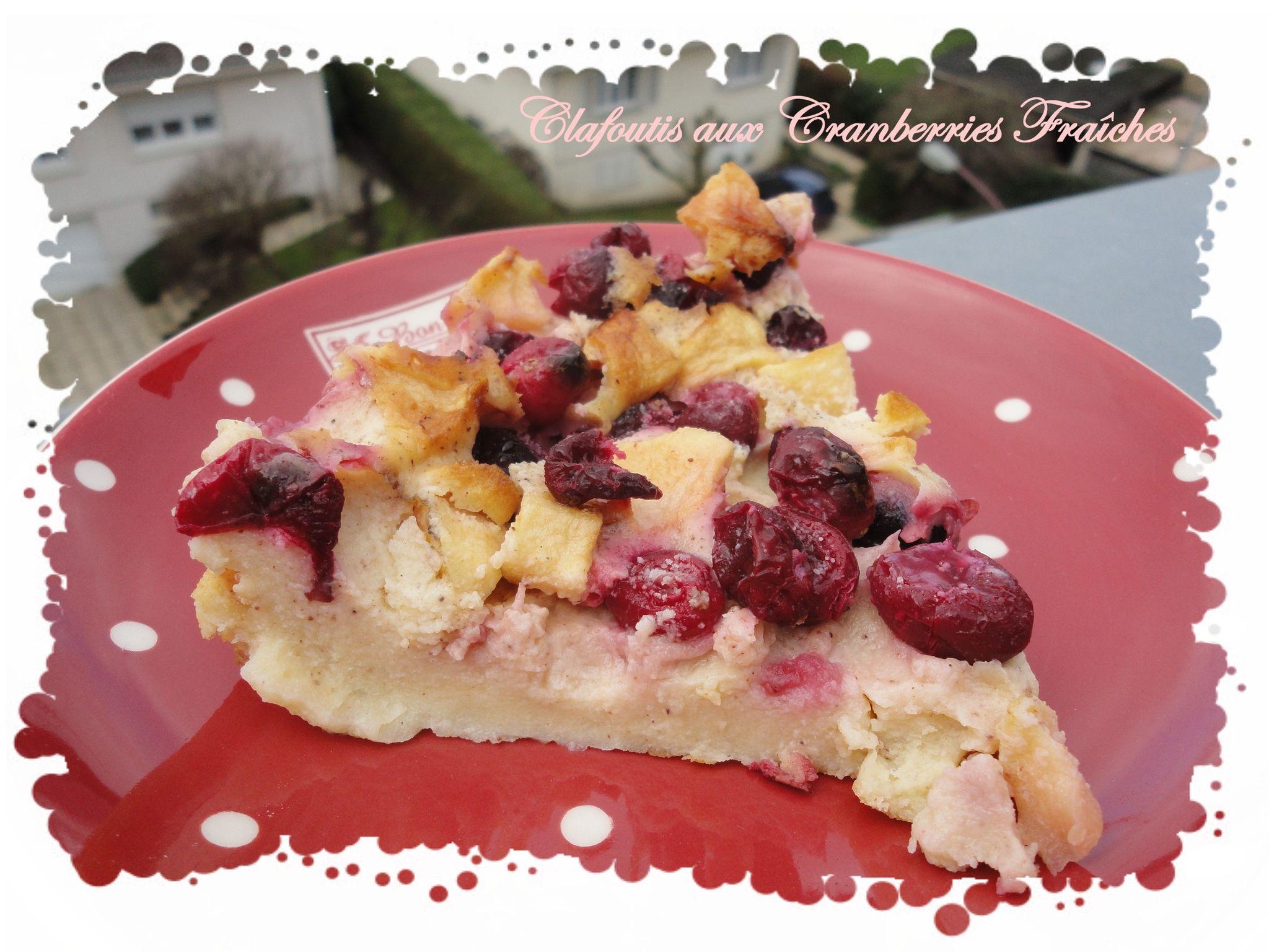 clafoutis aux cranberries fraiches