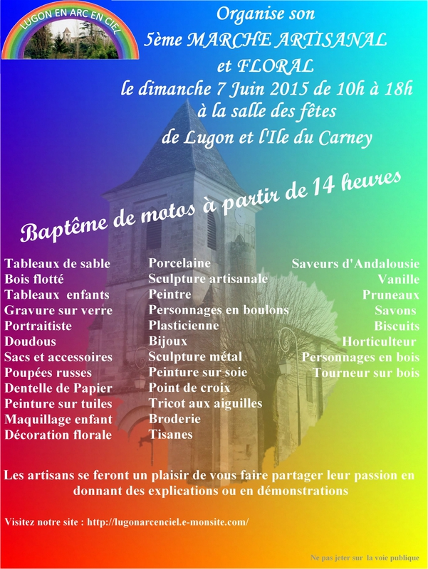 Marche artisanal 7 juin