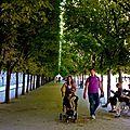 Instantané au jardin du Palais-Royal.