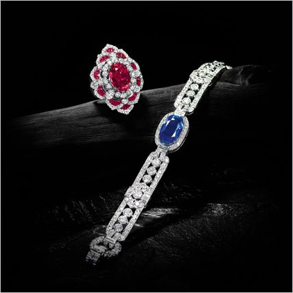 Important Kashmir Sapphire and Diamond Bracelet, Cartier