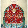 Anonymous, memorial portrait of madame li, wife of kong chuanduo, 68th-generation duke for perpetuating the sage, qing dynasty
