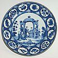 Chine. assiette ronde en porcelaine dite