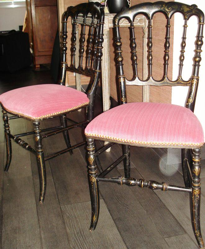 chaises napol on iii stephane poissel tapissier. Black Bedroom Furniture Sets. Home Design Ideas