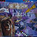 Challenge artjournal et gribouillages : flèche, labyrinthe et fleurs