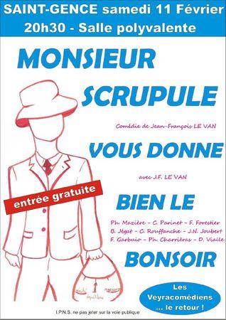 Affiche Mr Scrupule