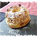 Paris brest individuels à la crème mousseline pralinée