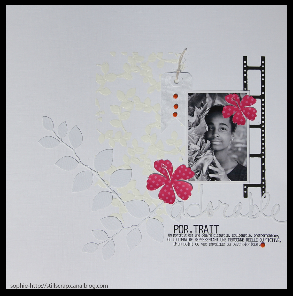 scrapbooking photo noir et blanc