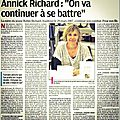 Annick richard - on va continuer a se battre