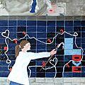 Mur mur d'amour (huile sur toile) 73 x 60 cm
