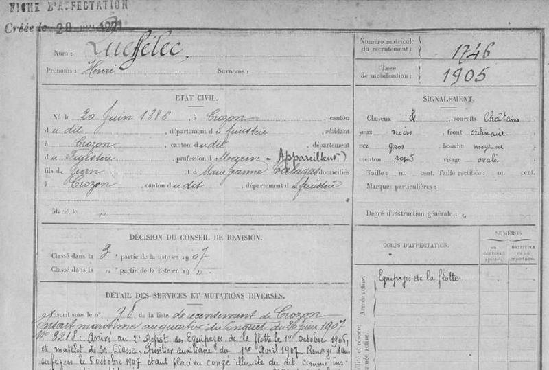 FM Henri Queffelec Crozon classe 1906_1