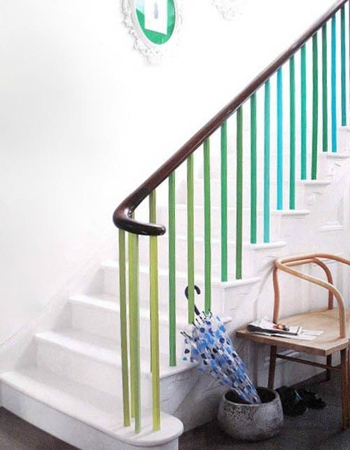 peindre son escalier pom gus. Black Bedroom Furniture Sets. Home Design Ideas