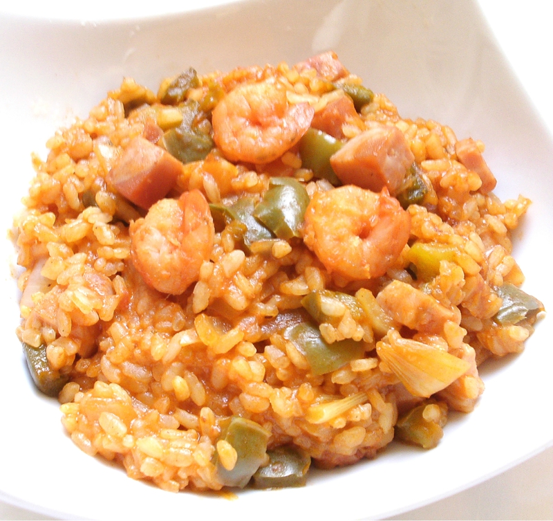 Jambalaya aux crevettes et poivron