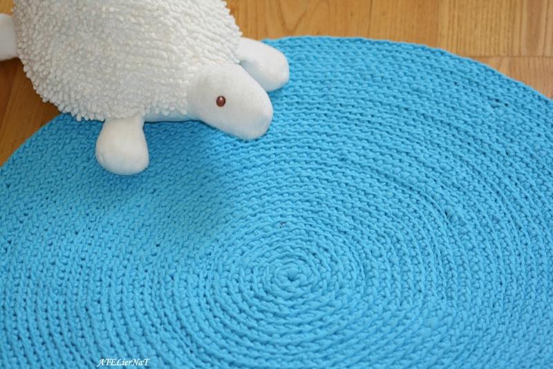 Tapis bleu crochet6