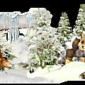 Cadre cluster hiver pour vos créations