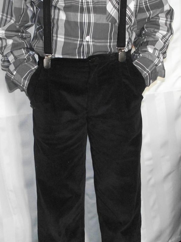 Pantalon Burda 9781 velours fin noir 7