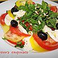 Farandole de tomate, courgette et mozzarella