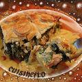 Tourte feuilletée au saumon et épinard !!!