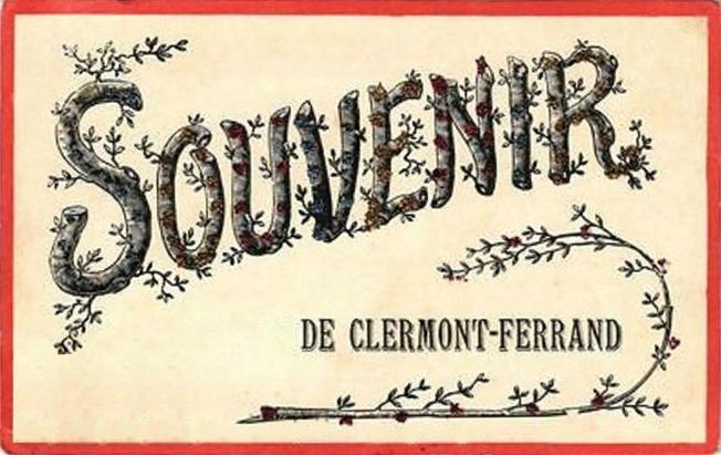 CPA Clermont-Ferrand Souvenir