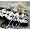 Jarretière dentelle noir et blanc