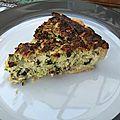 Tarte croquante aux courgettes et parmesan