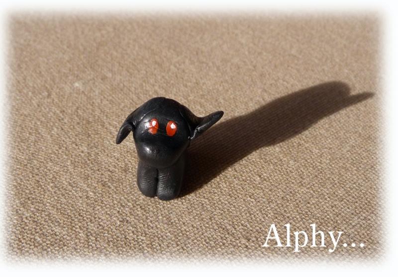 Alphy toutou - figurine en p^te polymère