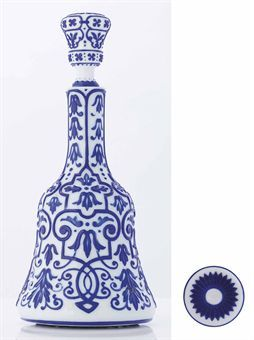 an_unusual_blue_overlay_white_glass_bell_shaped_bottle_and_stopper_18t_d5379624h