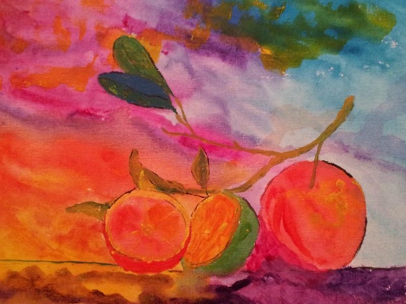 oranges en folie