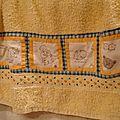 Serviette patchwork Nounours (Maman)