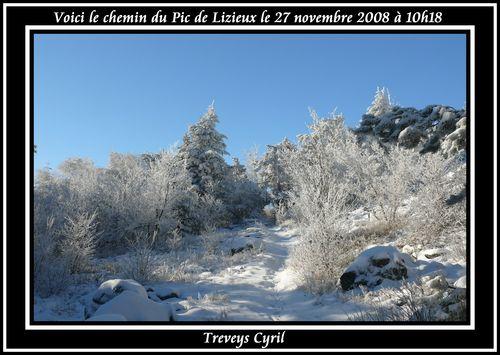 2008 11 27 Le chemin d'accé du Lizieux