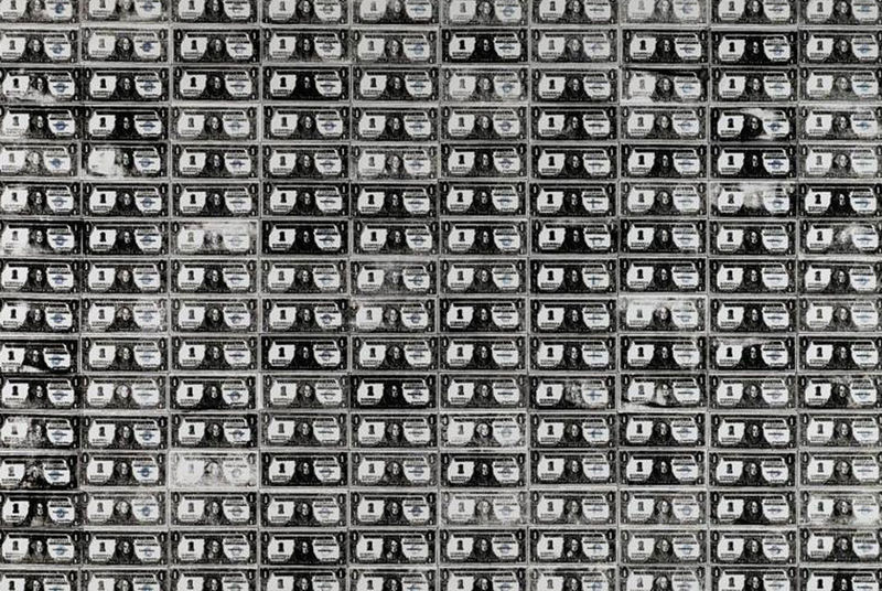 Andy Warhols Iconic 200 One Dollar Bills From 1962 Sells For 43762500 At Sothebys