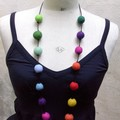 Collier boules multicolore