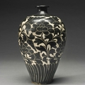 A 'cizhou' 'sgraffito' 'peony' vase (meiping), northern song dynasty