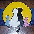lune et famille chat