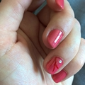 Nail art rose et rouge