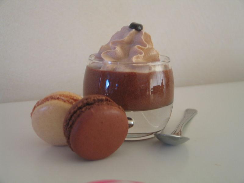 Duo de mousse chocolat caf cakeonmange for Decoration 3 chocolat