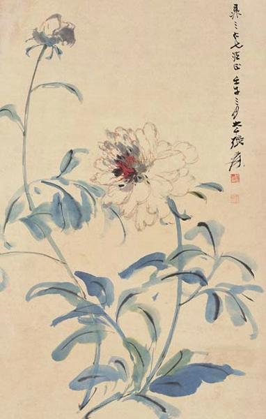 Pivoine blanche Zhang Daqian