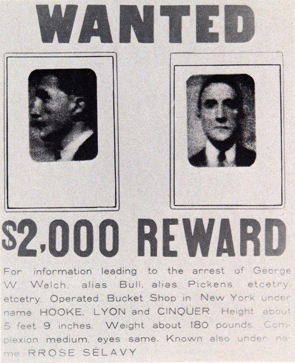49. Marcel DUCHAMP, Wanted/$ 2000 Reward, 1923.