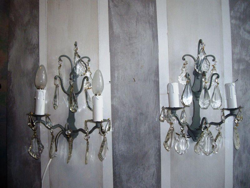 Appliques grises pampilles photo de appliques l 39 esprit des lumi res - L esprit des lumieres ...