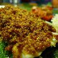 Crumble de chorizo et tomates séchées sur dos de julienne
