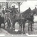 1206 - la fuite devant l'inondation - inondations 1910.