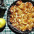 Rose tarte pommes abricots